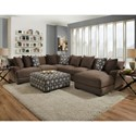 Franklin Cadet Sectional Sofa with 5 Seats and Chaise - Item Number: 80859+04+2x03+86-3510-16