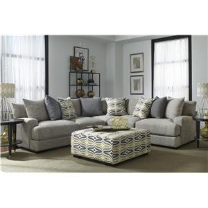 Franklin Barton Sectional Sofa with 4 Seats