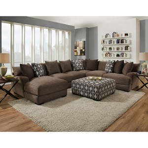 Franklin Cadet Five Seat Sectional with Left Facing Chaise