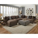 Franklin Cadet Five Seat Sectional with Left Facing Chaise - Item Number: 80885+2x03+04+60-