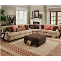 Franklin 809 Casual Loveseat - 80920 8883-29 - Shown as Part of Sectional Sofa