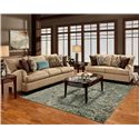Franklin 809 Casual Stationary Sofa - 80940 8883-28