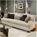 Franklin 809 Casual Stationary Sofa - Shown in Room Setting