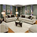 Franklin 809 Casual Stationary Sofa - Shown in Room Setting with Matching Loveseat