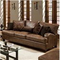 Franklin 809 Casual Stationary Sofa - 80940 8934-15 - Shown in Room Setting