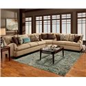 Franklin 809 Sectional Sofa - Item Number: 80940+99+20 8883-28