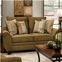 Franklin 811 Emily Upholstered Loveseat with Flared Arms