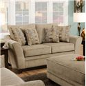 Franklin 811 Ashland Upholstered Loveseat with Flared Arms - 81120 Ashland