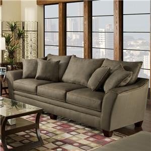 3 Seat Stationary Sofa With Flared Arms