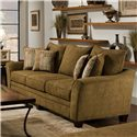 Franklin 811 Emily 3-Seat Stationary Sofa with Flared Arms - 81140 8926-15