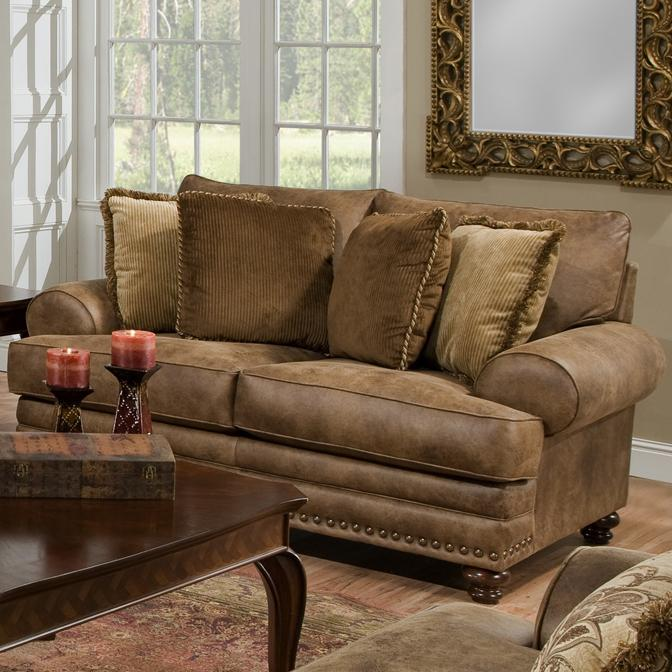 Franklin Traditional Loveseat Old Brick Furniture Love