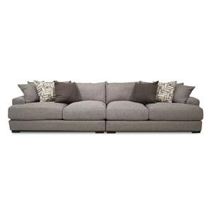 Whitman Salsa Contemporary Sofa Chaise With Flared Back