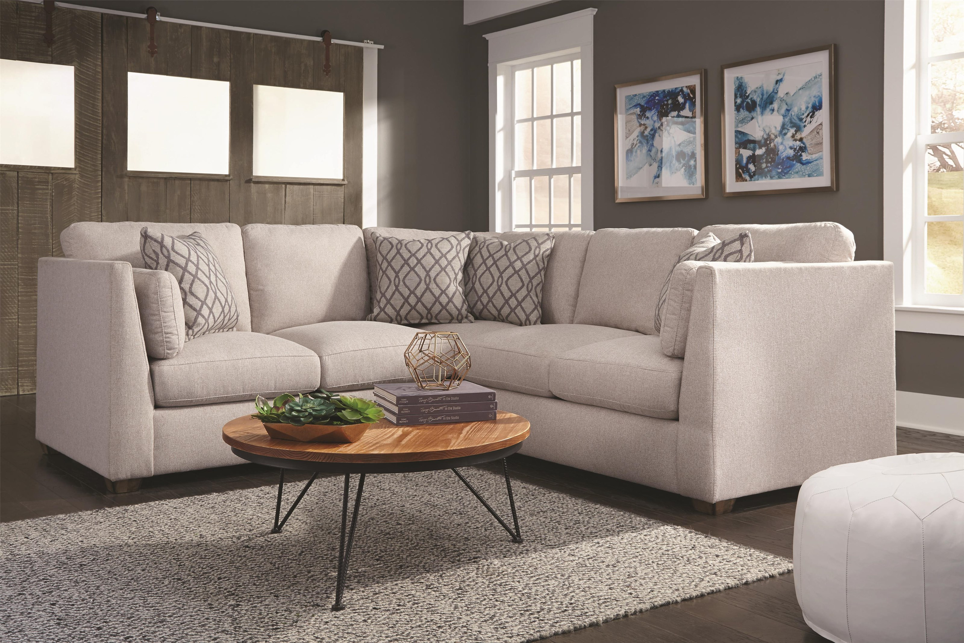 Franklin Hawthorne Two Piece Sectional w/USB - Item Number: GRP-821XX-SECTIONAL