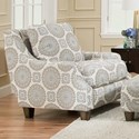 Franklin Evelyn Accent Chair - Item Number: 2170-Cool-Toned-Spiral