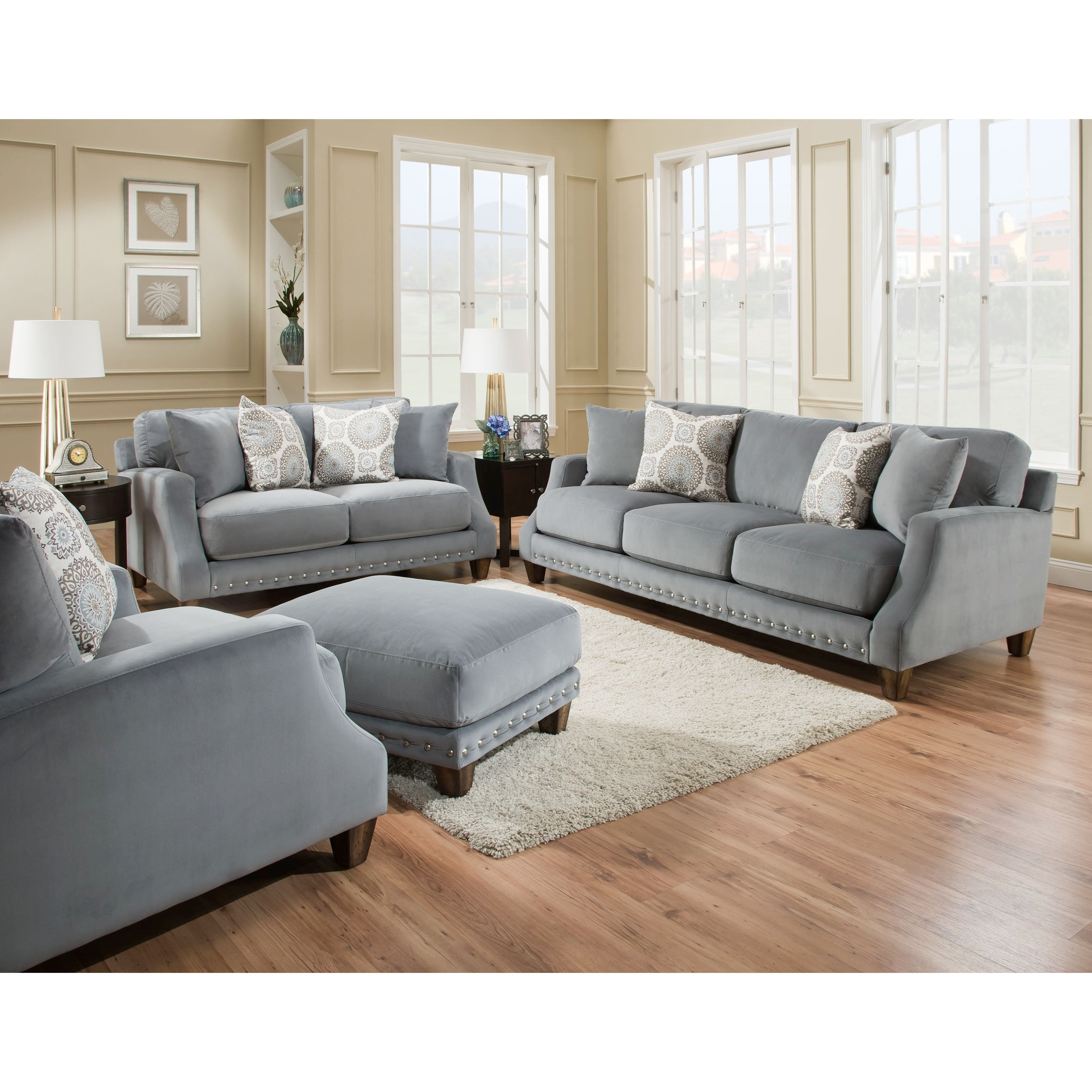 Franklin 863 Loveseat With Transitional Style