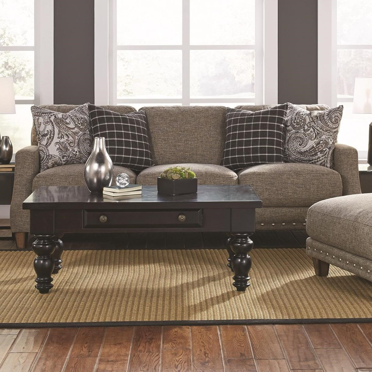 Sofa With Transitional Style 863 By Franklin Wilcox Furniture Sofas Corpus Christi
