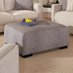Square Ottoman with Button Tufting