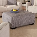 Franklin Landon Square Ottoman with Button Tufting - Item Number: 75018