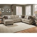 Franklin Brannon Sectional Sofa with 5 Seats - Item Number: 887-59+50+19-3736-17