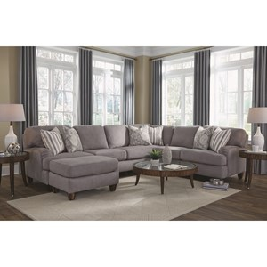 Haddie Sectional Sofa with 5 Seats by Franklin