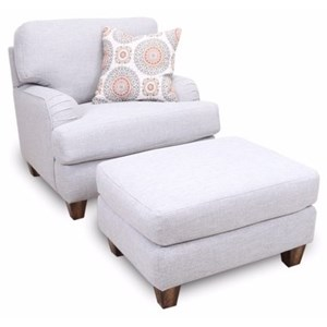 Franklin Brianna Chair & Ottoman