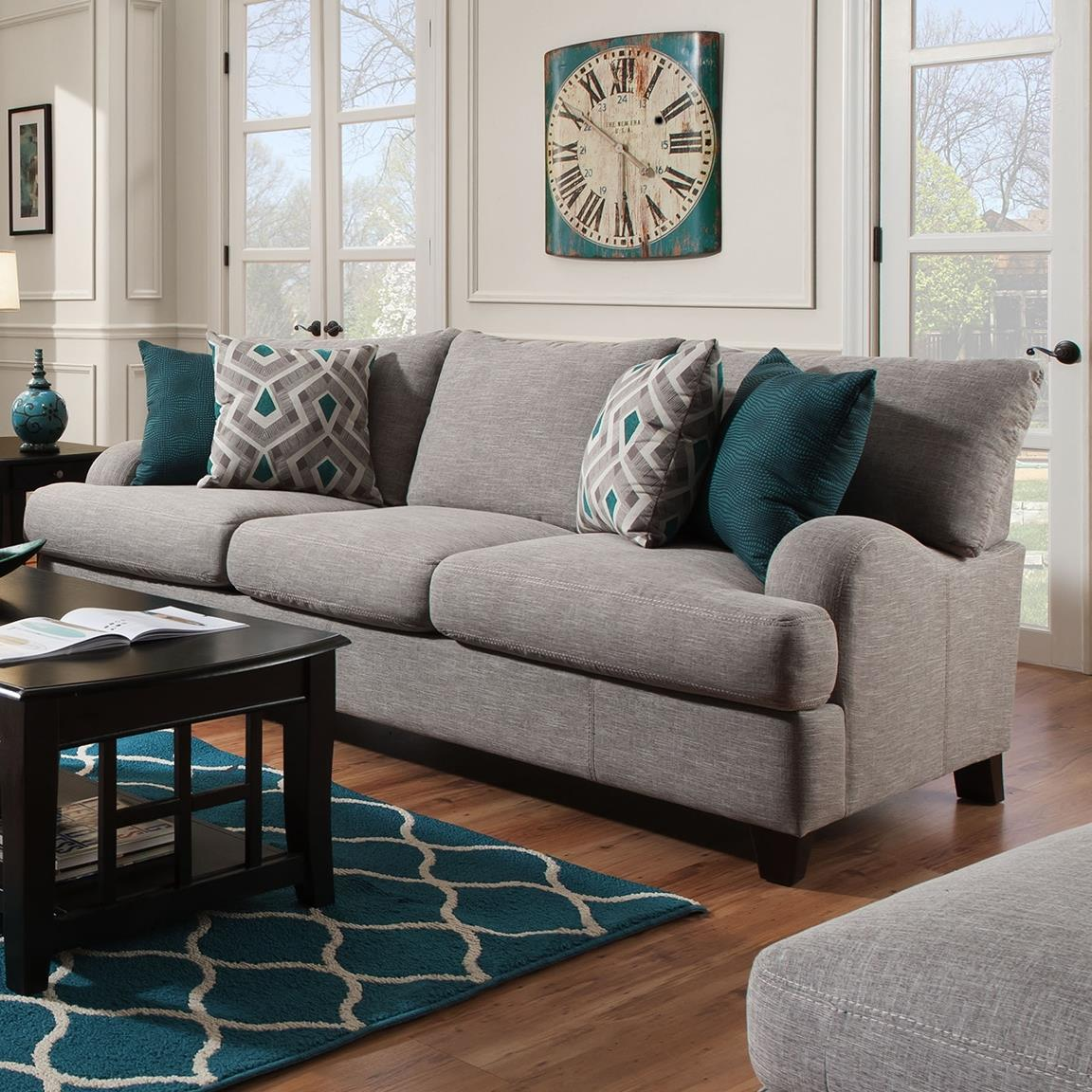 Franklin Paradigm 89240 Sofa With Bold Accent Pillows