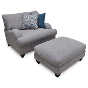 Franklin Paradigm Chair and a Half & Ottoman
