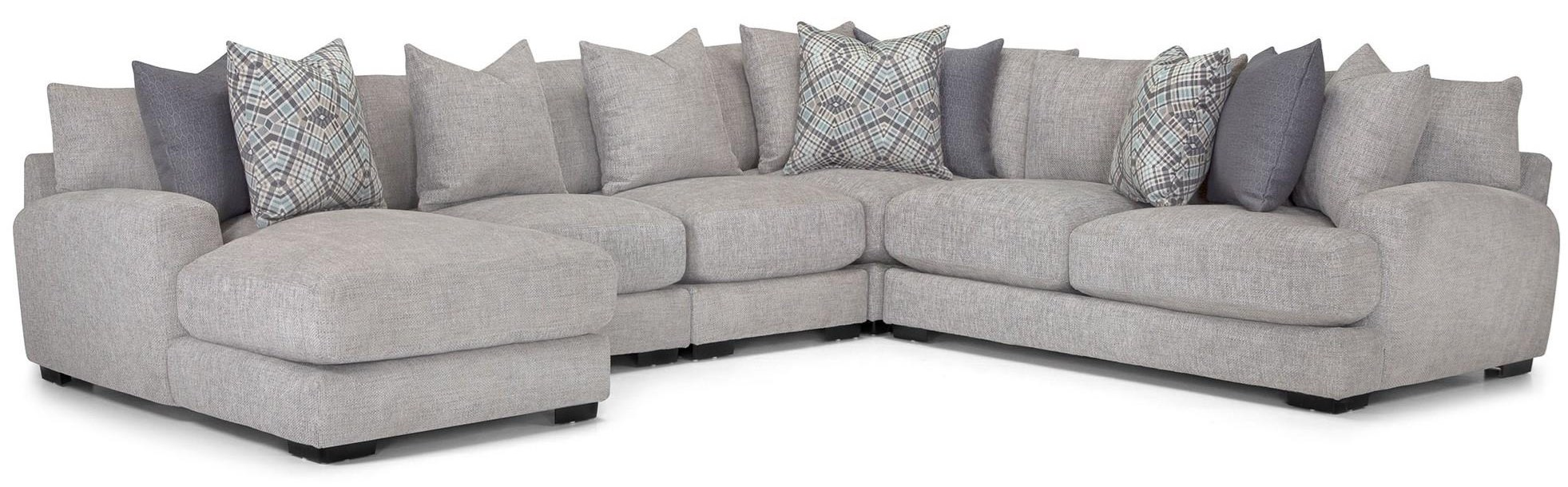 5 Pc sectional -Grey