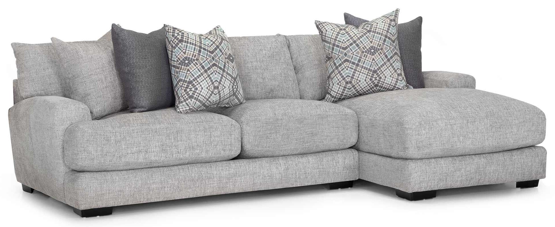903 Two Piece Sectional -Grey by Franklin at Furniture Fair - North Carolina