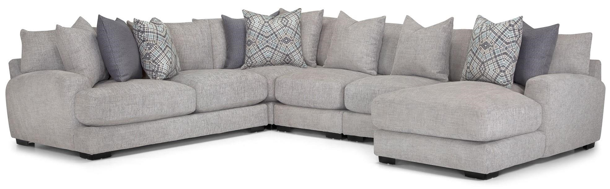 903 5 Pc sectional -Grey by Franklin at Furniture Fair - North Carolina