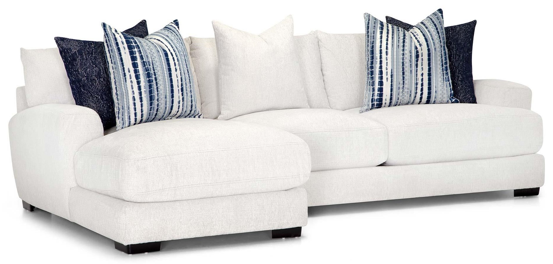 903 Two Piece Sectional -White by Franklin at Furniture Fair - North Carolina