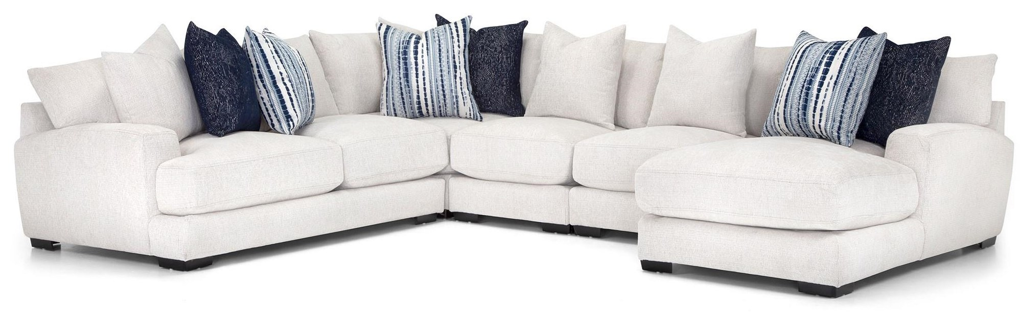 903 5 Pc sectional -White by Franklin at Furniture Fair - North Carolina