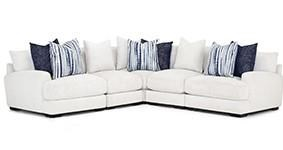 Three Piece Sectional-White