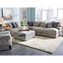 Franklin 903 Sectional Sofa - Item Number: 90359+04+03+87+86-3932-25