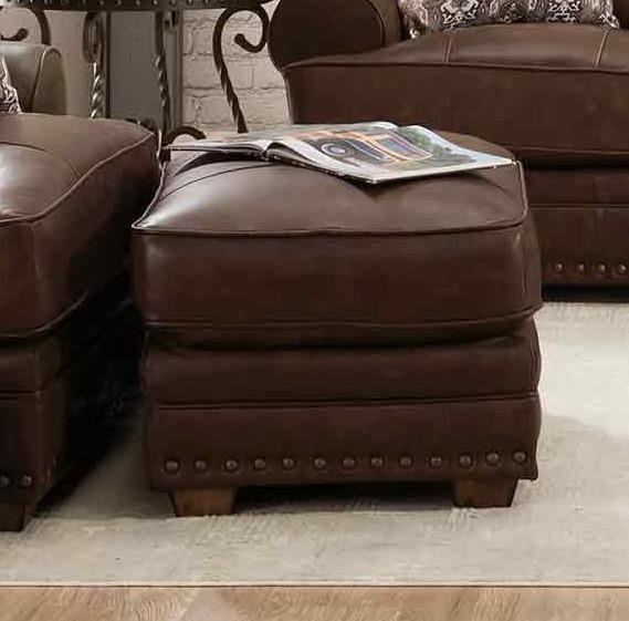 912 TULA LEATHER Tula Leather Ottoman by Franklin at Furniture Fair - North Carolina