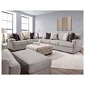 Franklin 953 Stationary Living Room Group - Item Number: 953 Living Room Group 3 3932-25