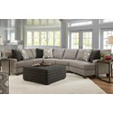 Franklin 964 Sectional Sofa - Item Number: 96449+69+98-3921-07
