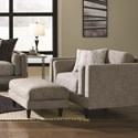 Franklin Argentine Chair and Ottoman - Item Number: 83818-3779-06+83888-3779-06