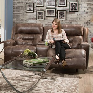 Franklin Armstrong Reclining Console Loveseat