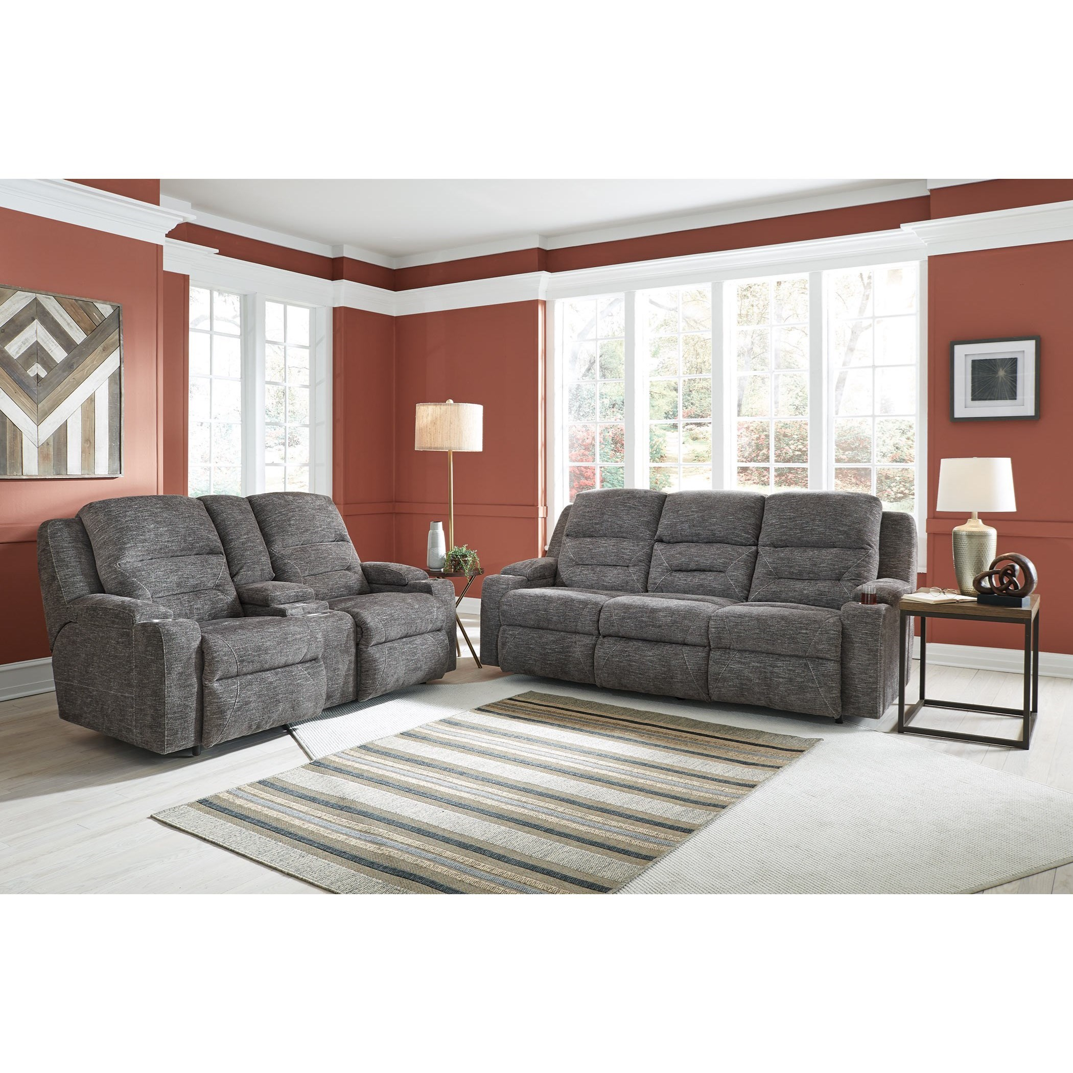 Franklin Beacon 79847 Power Reclining Sofa With Fold Down