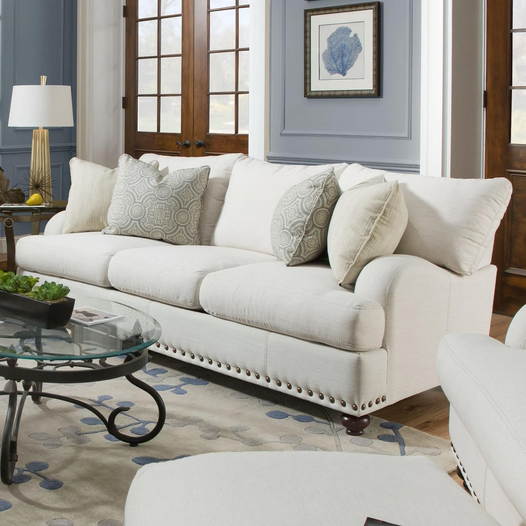 Ashton Sofa Dressed With Our Madison Ottoman And A: Franklin Brinton Sofa With Reversible Cushions