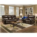 Franklin Butler Double Reclining Sofa for Family Rooms - Item Shown May Not Represent Exact Features Indicated