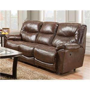 Franklin Calloway Leather Match Reclining Sofa