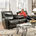 Franklin Calloway Reclining Sofa with Drop Down Table - Item Number: 45744-7506-01