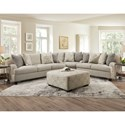 Franklin Cambria Sectional Sofa - Item Number: 99240+99+20-3927-25