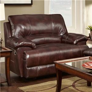 Franklin Caswell Leather Match Chair and a Half Recliner