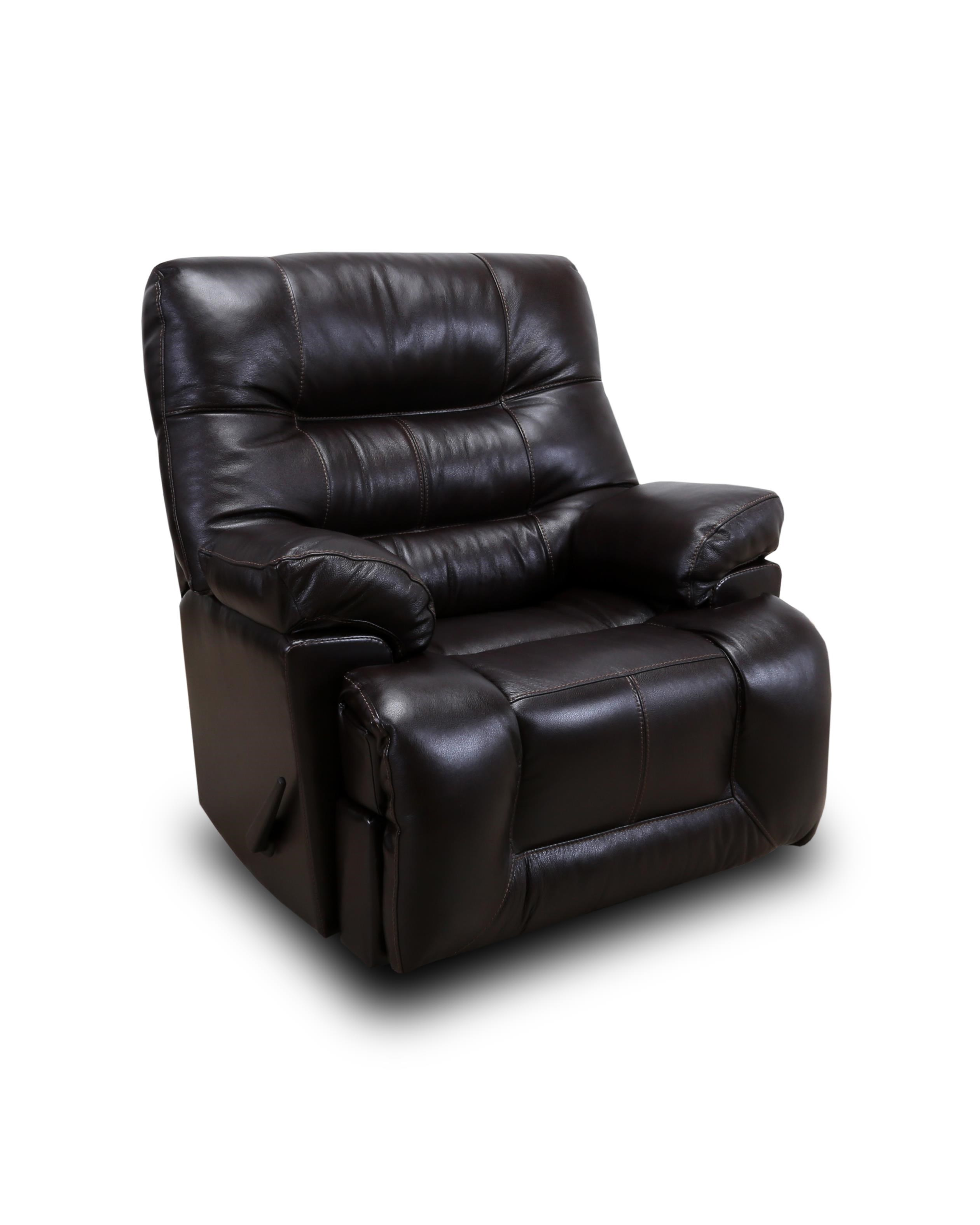 Franklin Recliners Boss Handle Leather Rocker Recliner - Item Number: 4585 LM74-14