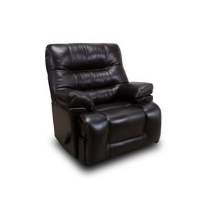 Franklin Recliners Boss Handle Leather Rocker Recliner