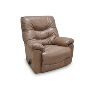 Franklin Recliners Trilogy Tan Leather Rocker Recliner