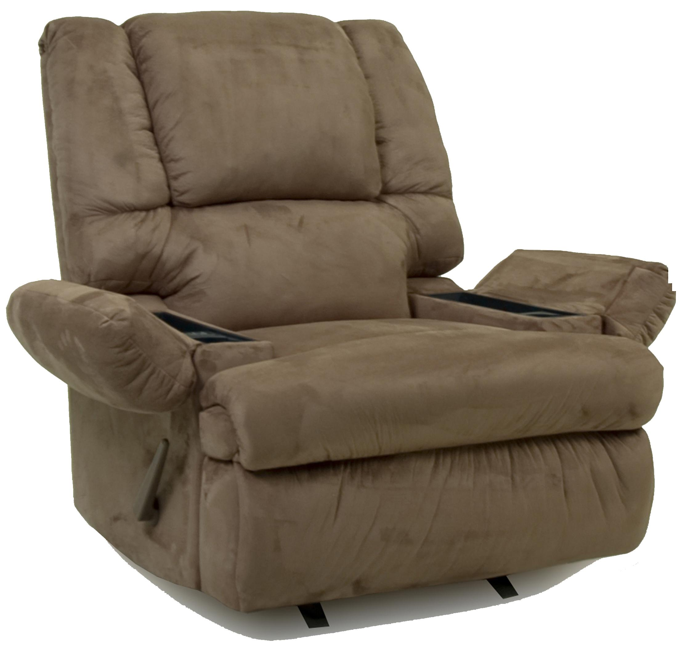 recliner with arm storage